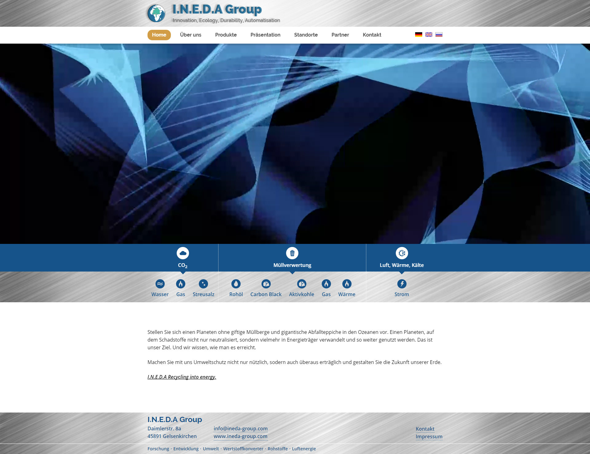 Contao Webdesign für I.N.E.D.A Group
