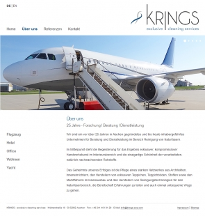 Webdesign aus Aachen für Krings Exclusive Cleaning Services