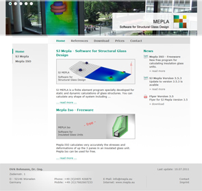 Webdesign Würselen: MEPLA - Software for Structural Glass Design