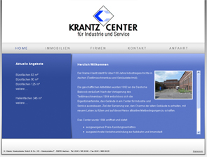Webdesign Aachen: Krantz-Center f�r Industrie und Service