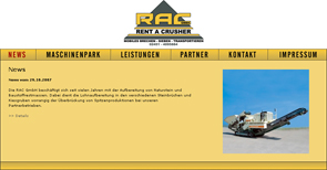 Webdesign : Rent a Crusher GmbH