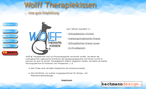 Webdesign : Wolff® Therapiekissen