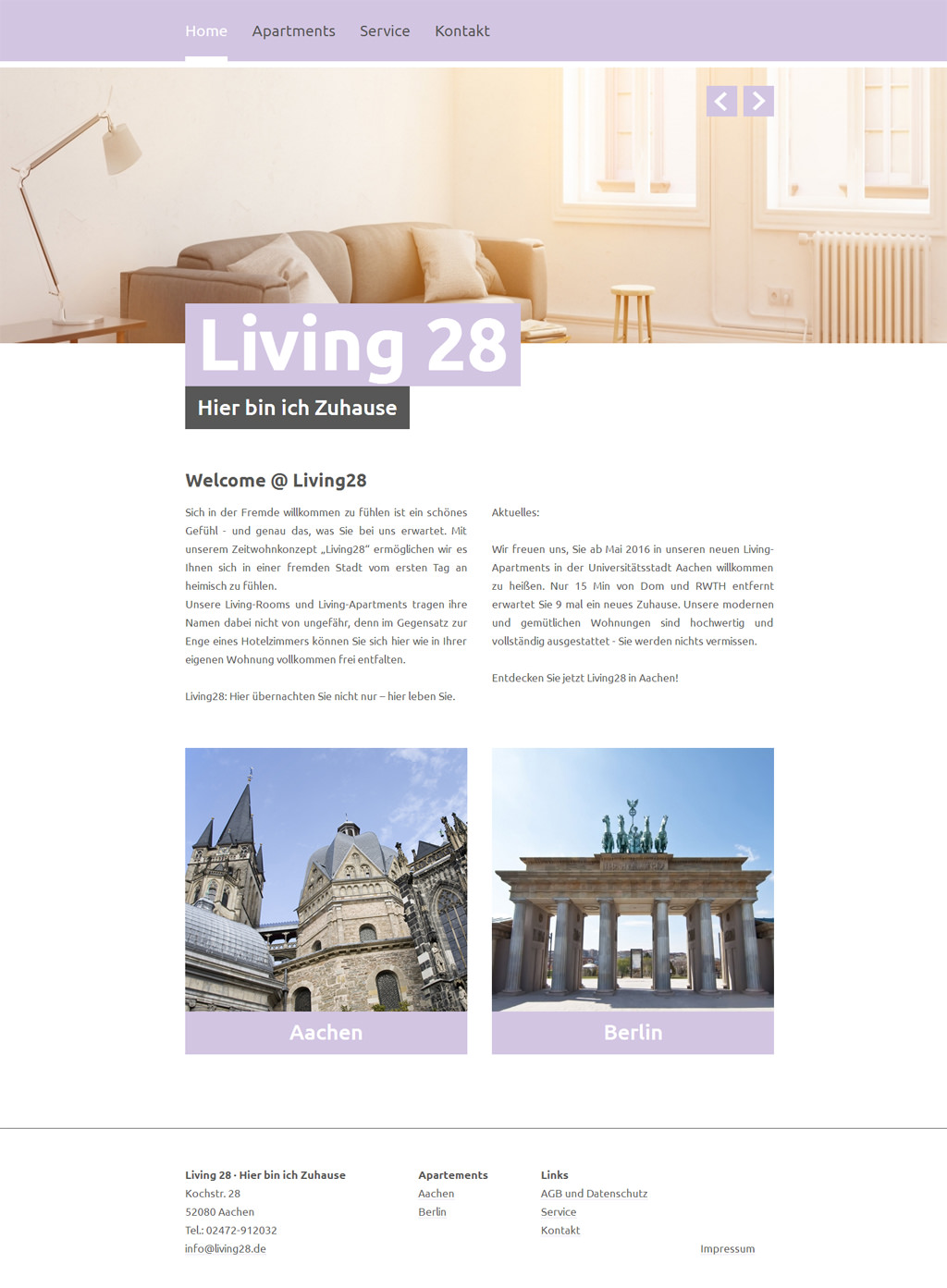Aachen webdesign bachmann design werbeagentur aachen for Apartment web design