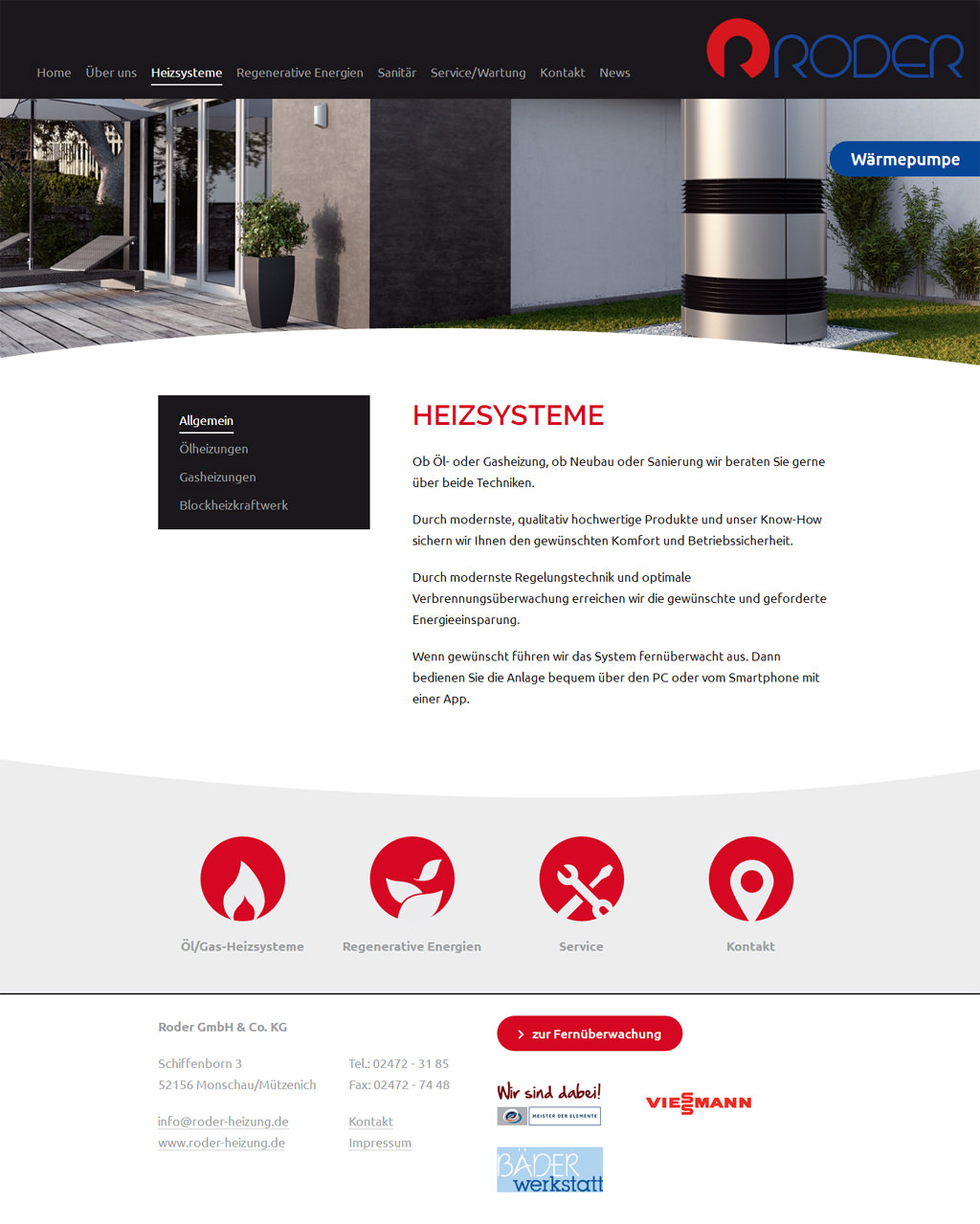 Website Relaunch für Roder GmbH & Co. KG in Monschau